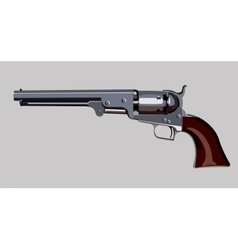 old revolver vector image