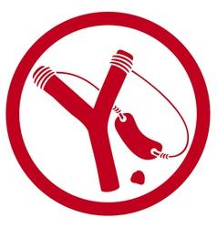 Slingshot symbol vector