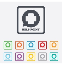 Help point sign icon medical cross symbol vector
