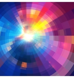 Abstract colorful circle technology vector