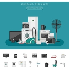 Household appliance vector