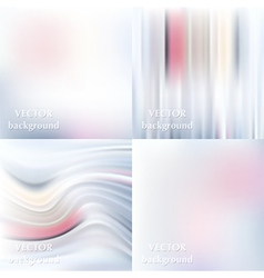 Abstract colorful blurred smooth backgrounds set vector