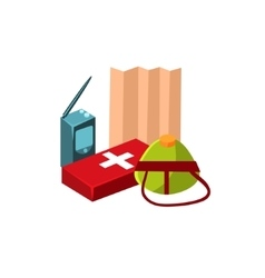 Camping first aid kit vector