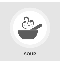 Soup icon flat vector