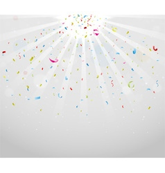Colorful sparkling confetti on gray vector