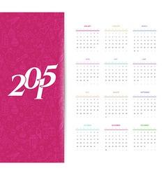 Calendar for 2015 year vector image
