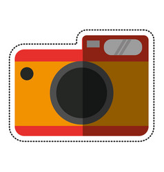 Cartoon photo camera picture travel vector