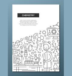 chemistry - line design brochure poster template vector image