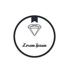 diamond badge theme vector image