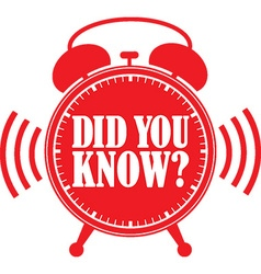 Did you know red alarm clock vector image vector image