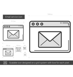 Email service line icon vector