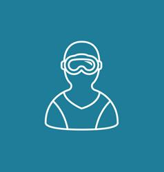 free diver icon vector image vector image