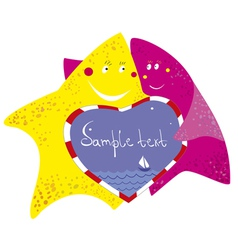 funny starfishes vector image
