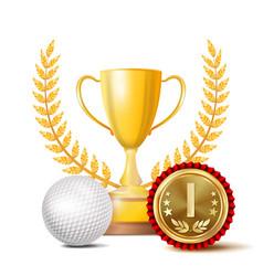 golf achievement award sport banner vector image vector image