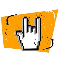 Hand cursor metal music vector