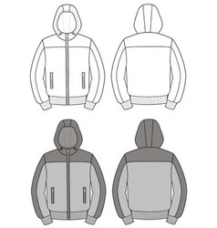 Hooded jacket vector image