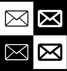 Letter sign black and white vector