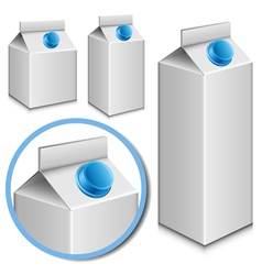 Milk carton set vector image vector image