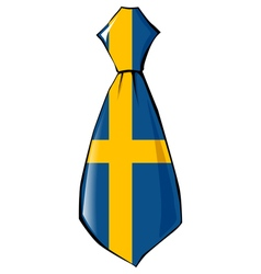 necktie in national colours of Sweden vector image