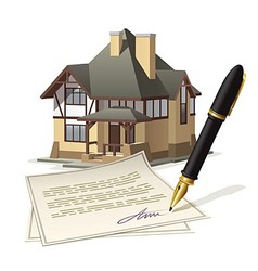 Paperwork at home vector image