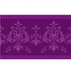 scroll work border vector image vector image