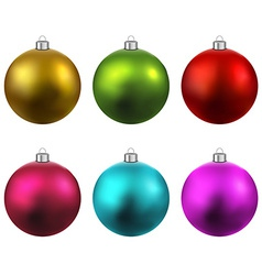 Set of realistic christmas balls vector image