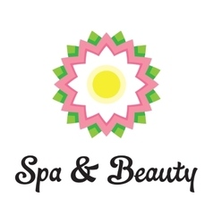 Spa health relaxation care of a logo lotus flower vector