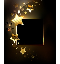 Square Banner with Gold Stars vector image vector image
