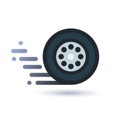 Twisting wheel icon vector