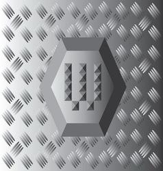 W text aluminium wallpaper vector