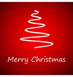 White christmas tree vector image