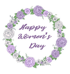 women s day greeting card with beautiful blossom vector image vector image
