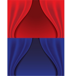 Red and blue curtains vector