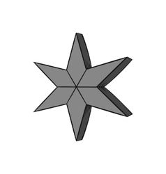 Heavenly six pointed star icon monochrome style vector