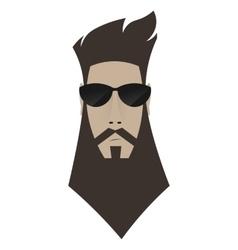 A brutal man Hipster in dark glasses vector image