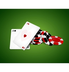 Two aces vector image