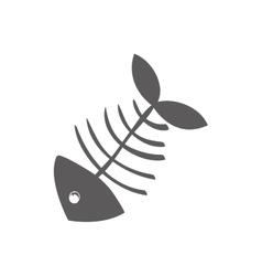 Cartoon fish skeleton vector