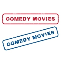 Comedy movies rubber stamps vector