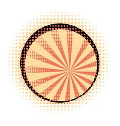 Orange rays with halftone vector