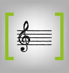 music violin clef sign g-clef  black vector image