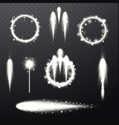 Bright festive light beams vector