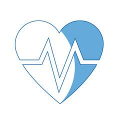 Heart beat healthy medicinal cardiology symbol vector