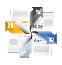 Arrows infographics design template vector