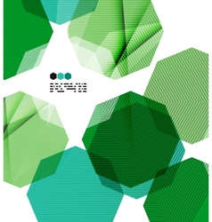 Bright green geometric modern design template vector