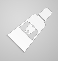 Toothpaste with label tooth vector