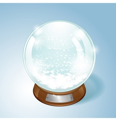 Christmas Snow globe with the falling snow vector image