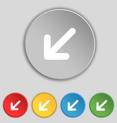 Turn to full screenicon sign symbol on five flat vector