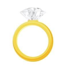 Diamond ring vector image
