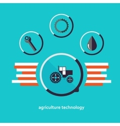 Set of characters relating to agriculture vector