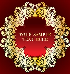 Red and gold vintage frame vector